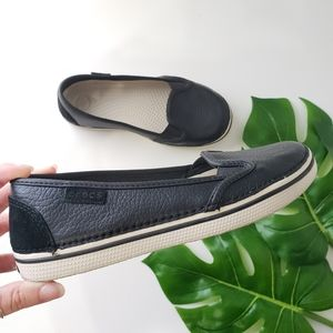 Crocs Playa leather and suede slip on loafer
